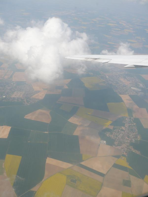 Flight over France and its crops